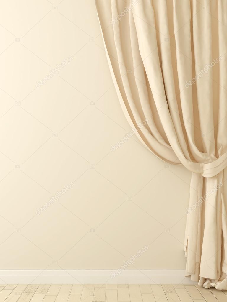 gardinen beige wand stockfoto jzhuk 18878367. Black Bedroom Furniture Sets. Home Design Ideas