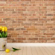 Yellow tulips in interior — Stok Fotoğraf #20288601