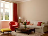 Interior in eclectic style — Stock Photo