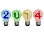 Multi-colored lights 2014 — Stock Photo