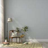 Classic chair and a floor lamp — Stock Photo