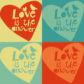 Cute vector love cards — ストックベクタ