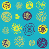 Seamless pattern. Cute floral background. — Stock Vector