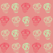 Pink skull seamless pattern — Stock Vector