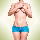 Cuerpo en ropa interior azul — Foto de Stock