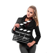 Lovely director smiling at the camera — Stock Photo