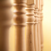 Railing in a row — Stock Photo