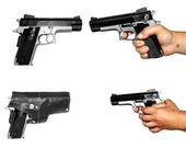 Quatro fotos de pistolet — Foto Stock