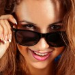 Happy girl in sunglasses — Stock Photo