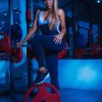 Full length photo of nice sports woman — Stock Photo