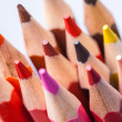 Foto Stock: Set of colored pencils