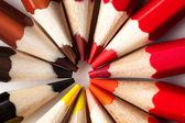 Macro photo of colored pencils stacked in a circle — Zdjęcie stockowe
