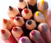 Plurity of multicolored pencils — Stock Photo