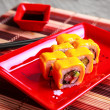 Traditional japanese roll with cheese — Stock Photo #40905421