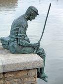 Pescatore freddo — Foto Stock