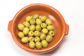 Anchovy stuffed olives — Stock Photo