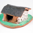 Little clay house — Stock Photo
