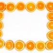 Sliced orange frame — Stock Photo