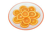 Sliced orange with sugar — Stock Photo