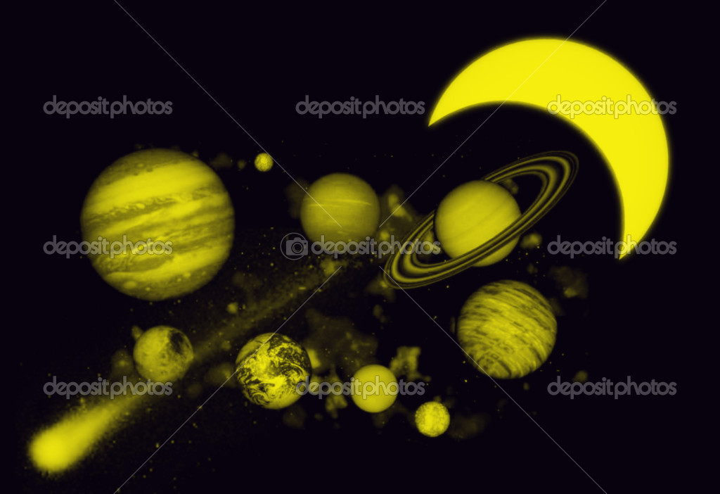 Planet in space  Stock Photo #18152325
