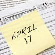 Stock Photo: Income tax deadline