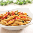 Pasta with spicy pepper sauce — Stock Photo