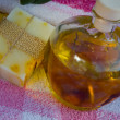 Massage oil with nature home made soap — Foto de Stock