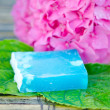 Natural handmade soap with decoration-spa — Stock Photo