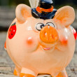 Saving money in beautiful piggy bank. — Stock Photo