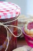 Home made raspberry jam — Stock Photo