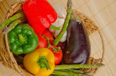Seasonal organic raw vegetables. — Stock Photo