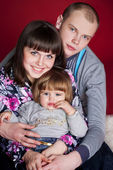 Happy family — Stockfoto