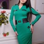 Beautiful brunette woman in fashionable stylish dress — Stock Photo #47512557