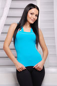 Young attractive woman in casual clothes — Stock Photo