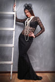 Woman in stylish dress — Stock Photo