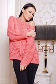 Portrait of a beautiful female model in autumn clothes — Zdjęcie stockowe