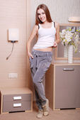 Young attractive woman in casual clothes — 图库照片
