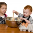 Kids cooking — Stock fotografie