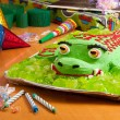 Stock Photo: Kids birthday cake at party