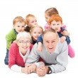 Stock Photo: Grandparents with grandchildren