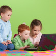 Group of children learning on kids computer — Stock Photo