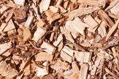 Woodchips full frame — Stock Photo