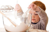 Boy cooking — Stock Photo