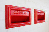Red letterbox old style — Stock Photo