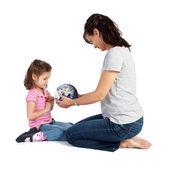 女の子の世界についての学習 — ストック写真