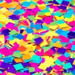 Colorful paper confetti square shapes — Stock Photo
