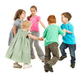 Happy kids playing circle game — Stock Photo