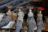 Oude water kraan kleppen — Stockfoto