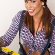 Handy Woman — Stock Photo