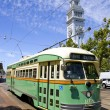 Trolley at Marketplace — Stock Photo